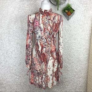 Free People All Dolled Up Paisley Boho Dress S